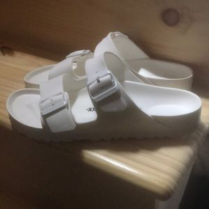 White Birkenstock's worn once EUR 39 L8 M8